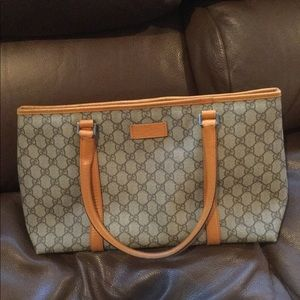 Gucci GG plus mono medium joy tote coated canvas